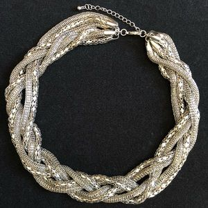 Silver Rope Statement Necklace